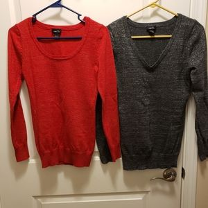 2 pack set Sparkly Long Sleeve